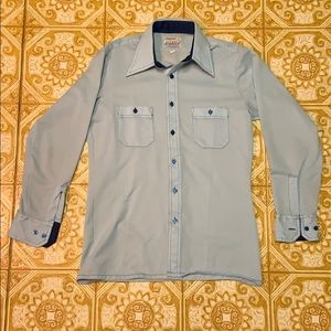 Men's Arrow Doubler Blue Botton Down Shirt